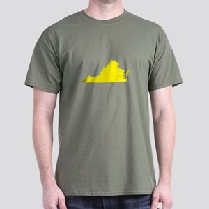 Yellow Virginia Dark T-Shirt