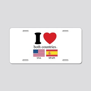 USA-SPAIN Aluminum License Plate