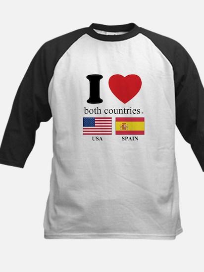 USA-SPAIN Kids Baseball Jersey