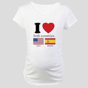 USA-SPAIN Maternity T-Shirt