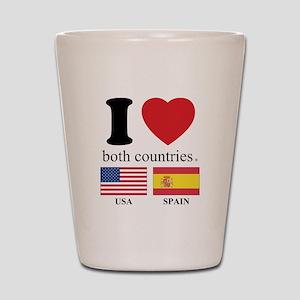USA-SPAIN Shot Glass