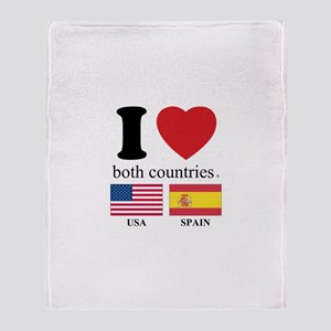 USA-SPAIN Throw Blanket