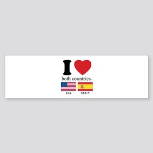 USA-SPAIN Sticker (Bumper)