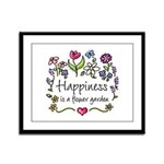 Happiness is.. Garden Framed Panel Print