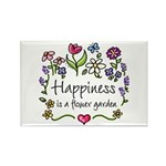 Happiness is.. Garden Rectangle Magnet