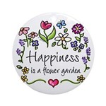 Happiness is.. Garden Ornament (Round)
