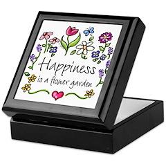 Happiness is.. Garden Keepsake Box