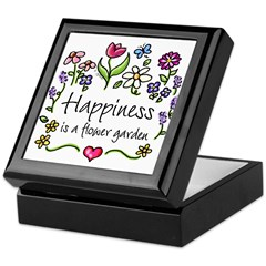 Happiness is.. Garden Keepsake Box