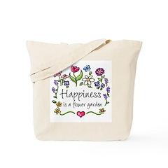 Happiness is.. Garden Tote Bag