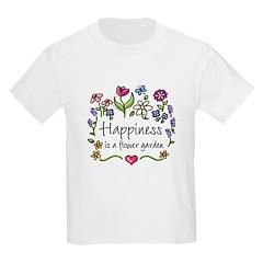Happiness is.. Garden Kids T-Shirt
