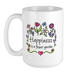 Happiness is.. Garden Large Mug