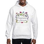 Happiness is.. Garden Hooded Sweatshirt