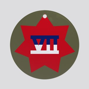 VII Corps Ornament (Round)