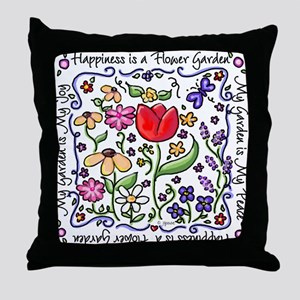 My Garden, My Joy Throw Pillow