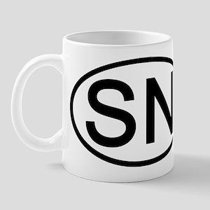 SN - Initial Oval Mug