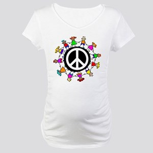Peace Kids Maternity T-Shirt