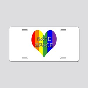 Safe Space In Heart Aluminum License Plate