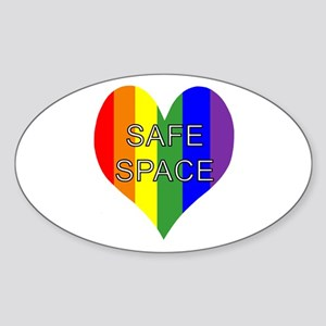 Safe Space In Heart Sticker (Oval)