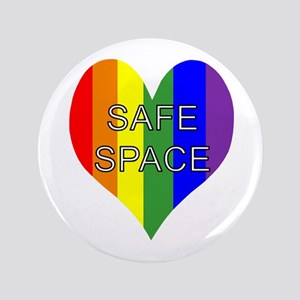 """Safe Space In Heart 3.5"""" Button"""