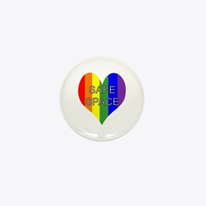 Safe Space In Heart Mini Button