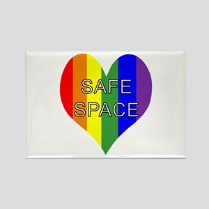 Safe Space In Heart Rectangle Magnet