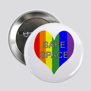 """Safe Space In Heart 2.25"""" Button"""