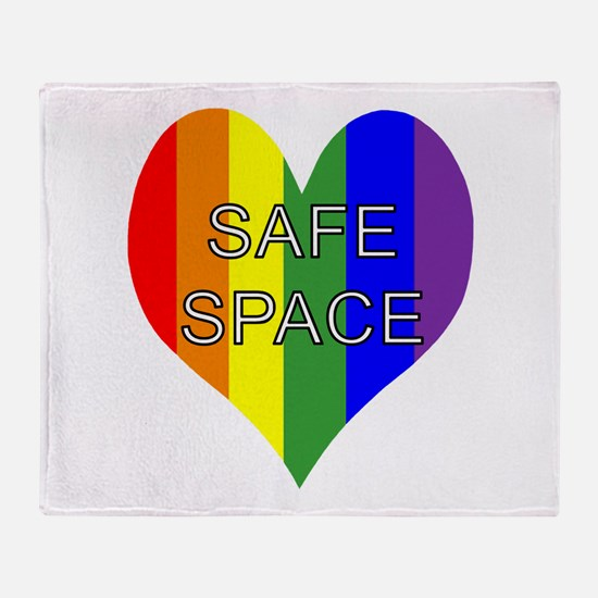 Safe Space In Heart Throw Blanket
