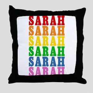 Rainbow Name Throw Pillow