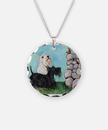 Scotties and Wren Necklace