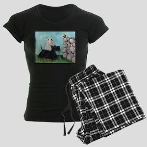 Scotties and Wren Women's Dark Pajamas