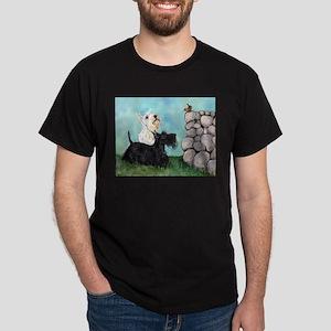 Scotties and Wren Dark T-Shirt