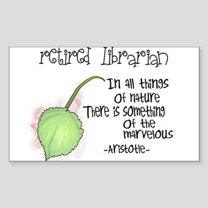Retired Teacher Sticker (Rectangle)