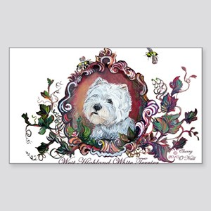 West Highland White Terrier Sticker (Rectangle 50