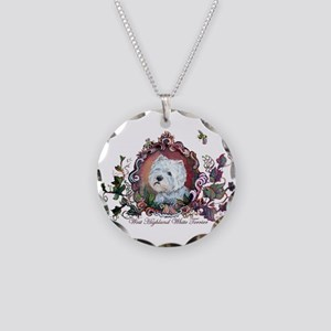 West Highland White Terrier Necklace Circle Charm