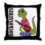 Rockosaurus Throw Pillow