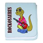 Rockosaurus baby blanket