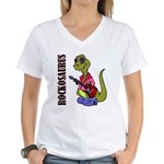 Rockosaurus Women's V-Neck T-Shirt