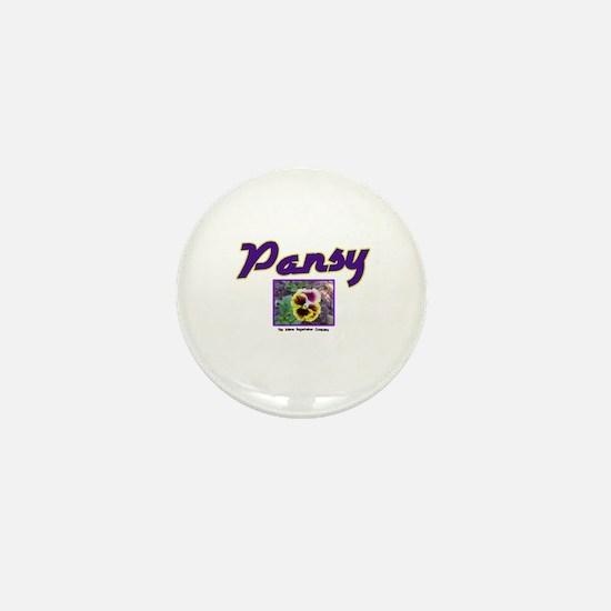Pansy Mini Button