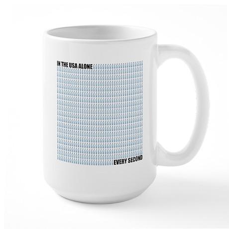 695 bottles per second Large Mug