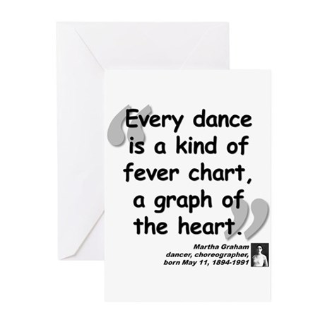 Graham Dance Quote Greeting Cards (Pk of 20)