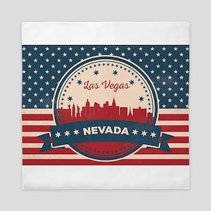 Retro Las Vegas Skyline Queen Duvet