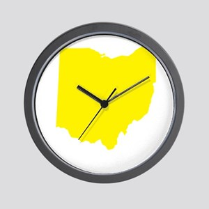 Yellow Ohio Wall Clock