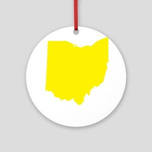 Yellow Ohio Ornament (Round)