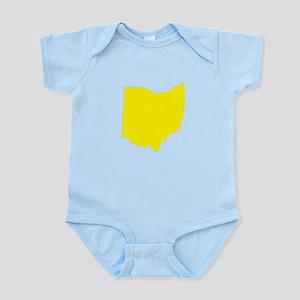 Yellow Ohio Infant Bodysuit