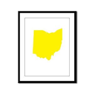 Yellow Ohio Framed Panel Print