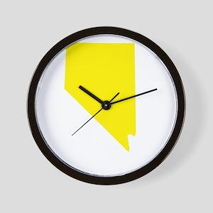 Yellow Nevada Wall Clock