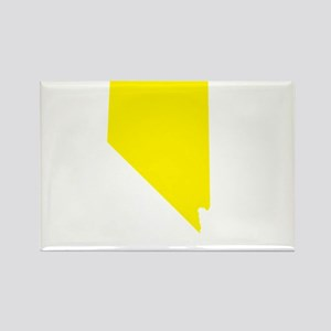 Yellow Nevada Rectangle Magnet