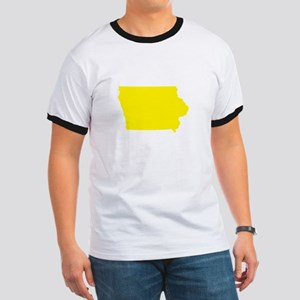 Yellow Iowa Ringer T