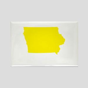 Yellow Iowa Rectangle Magnet
