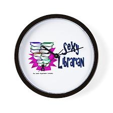 Sexy Librarian Wall Clock